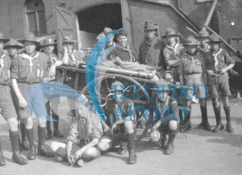 Φωτογραφίες από την ελληνική συμμετοχή στο 1ο Παγκόσμιο Προσκοπικό Τζάμπορη στο Λονδίνου (Olympia) του Ηνωμένου Βασιλείου το 1920