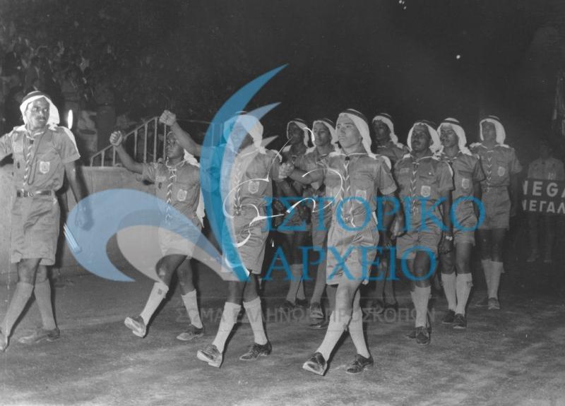 Φωτογραφίες από το 11ο Παγκόσμιο Προσκοπικό Τζάμπορη στο Σχοινιά του Μαραθώνα το 1963.