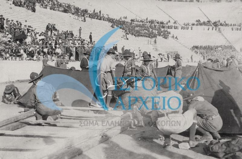 Οι πρώτες μεγάλες κατασκηνώσεις, οι προσκοπικές επιδείξεις στο Παναθηναϊκό Στάδιο και δράσεις στην δεύτερη δεκαετία ζωής των Ελλήνων Προσκόπων.