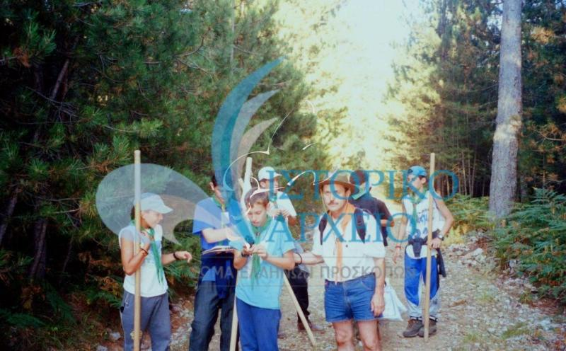 """Φωτογραφίες από το 3ο Πανελλήνιο Προσκοπικό Τζάμπορη που πραγματοποιήθηκε τον Αύγουστο του 1998 στο Διεθνές Κέντρο Νεολαίας """"Όλυμπος"""" στην Σκοτίνα Πιερίας."""